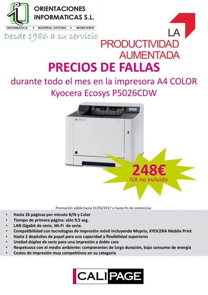 PRECIOS DE FALLAS durante todo el mes en la impresora A4 COLOR ...